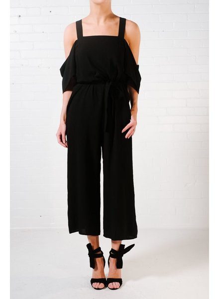 Jumpsuit Black cold shoulder jumpsuit