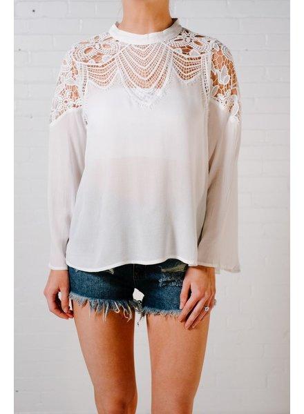 Blouse Ivory crochet blouse