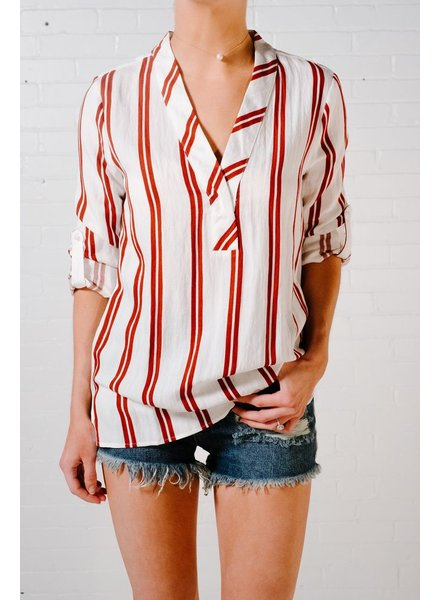 Blouse Red striped tunic