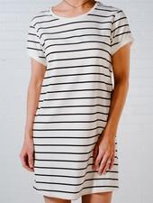 Mini Striped t-shirt dress