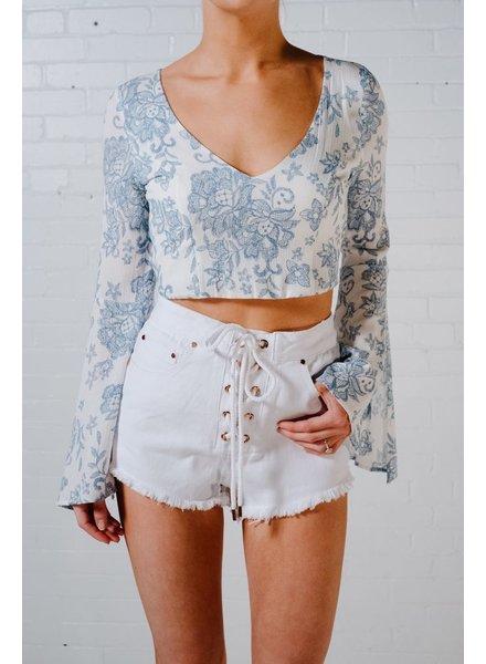 Blouse Mint baroque print blouse
