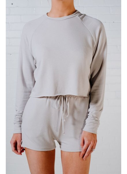 Sweatshirt Light grey jersey pullover *MATCHING SHORTS SOLD SEPARATELY