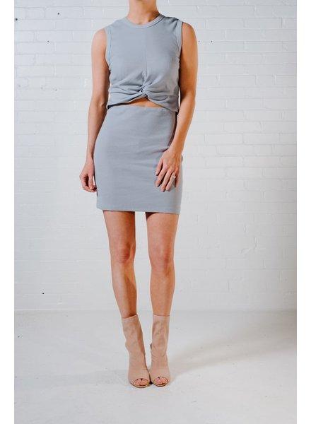 Mini Dusty blue cutout mini dress