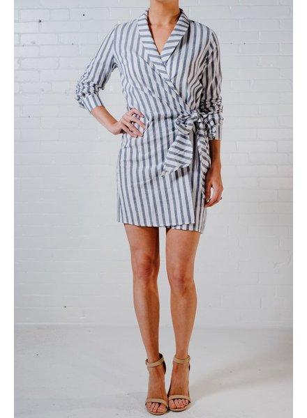 Mini Nautical wrap style mini dress