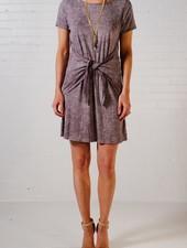 Mini Tie waist t-shirt dress