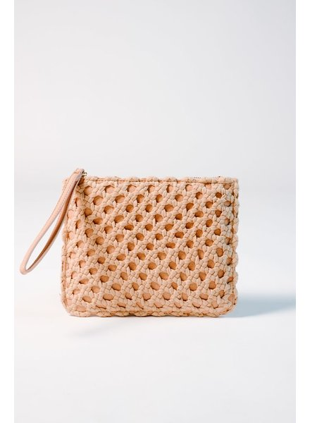 Clutch Blush crochet oversized clutch