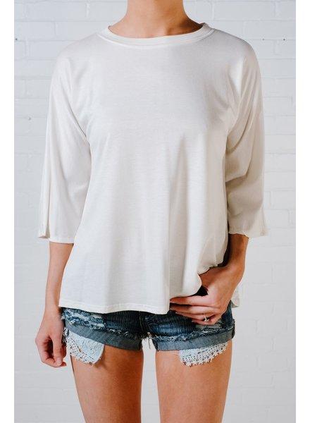 T-shirt Ivory bell tee