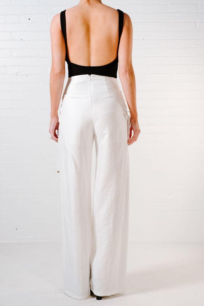 Pants White laced wide leg pants