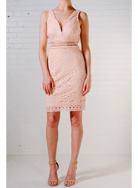 Lace Crochet sweetheart dress