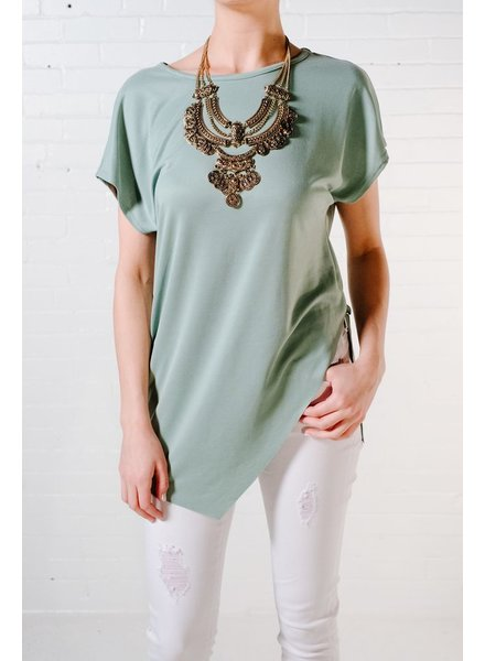 T-shirt Mint front slice t-shirt