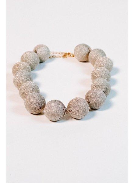 Trend Metallic thread ball necklace