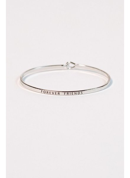 Silver Forever friends silver bangle
