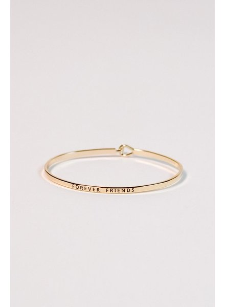 Silver Forever friends gold bangle
