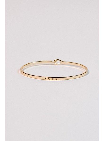 Gold Gold love bangle