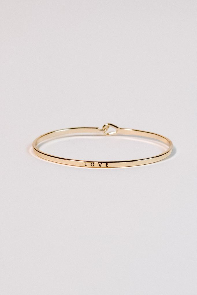 Gold Gold love bangle