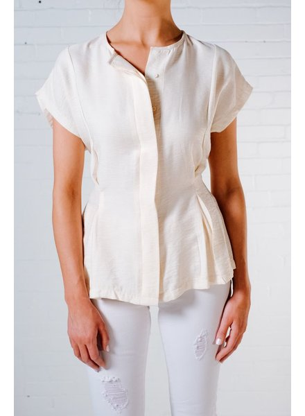 Blouse Feminine tie back blouse