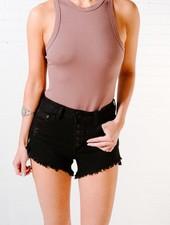 Bodysuit Mocha cotton bodysuit