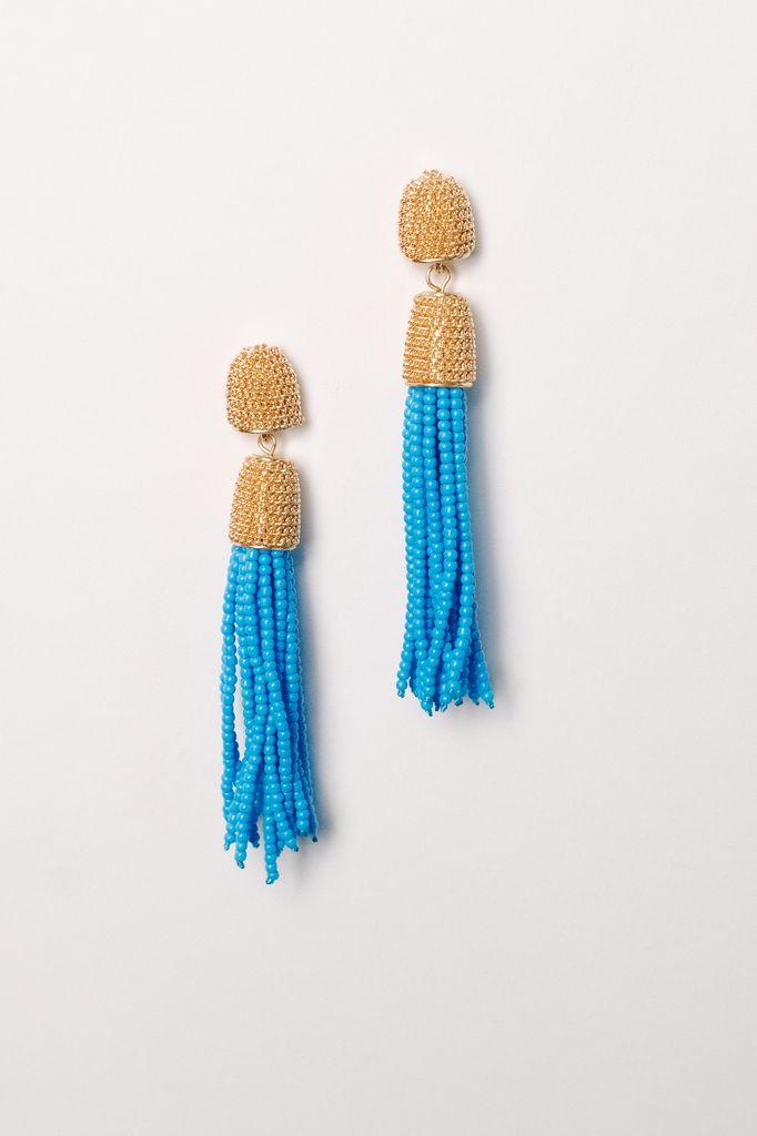 Trend Chain post tassel earrings