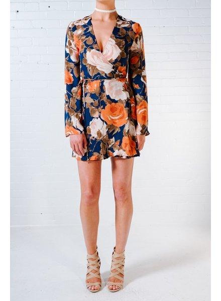 Dressy Rose wrap dress