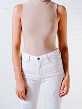 Bodysuit Nude turtleneck bodysuit