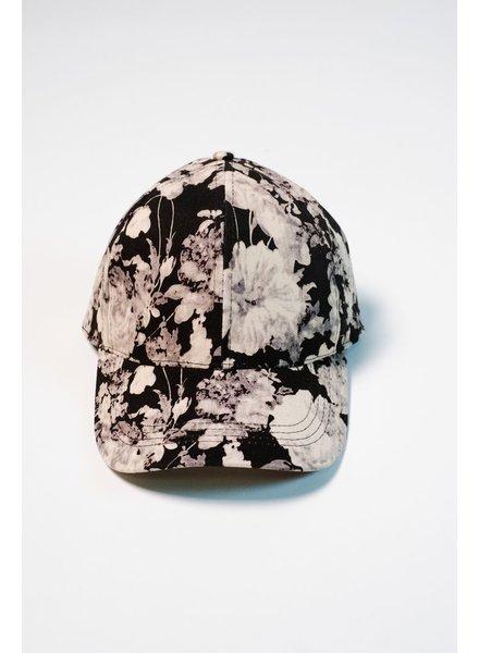 Hat Black floral baseball hat
