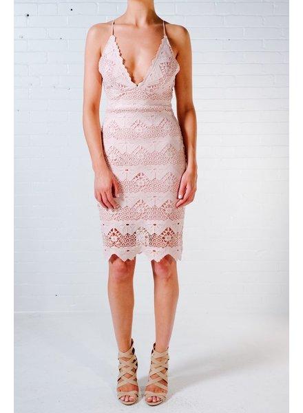Lace Crochet plunge dress