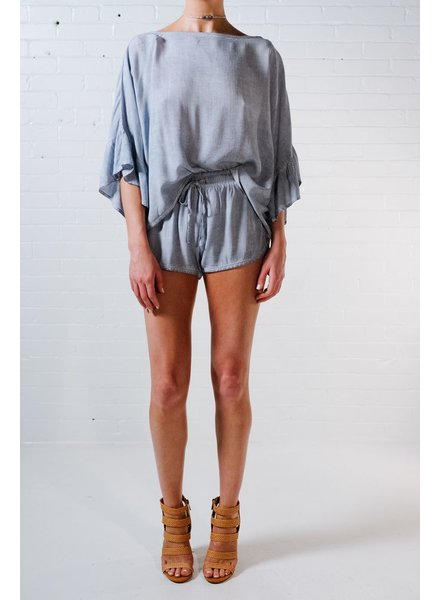 Blouse Washed chambray top