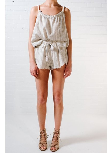 Shorts Linen fray detail shorts