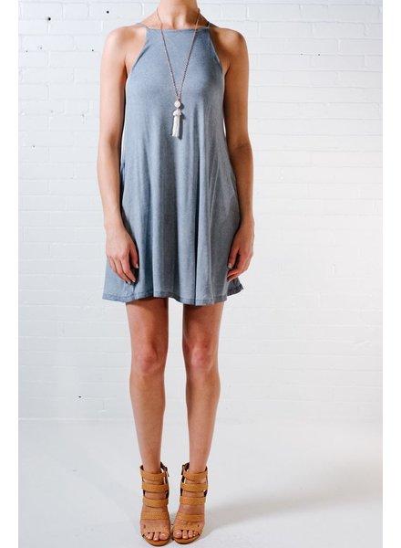 Mini Vintage blue swing dress
