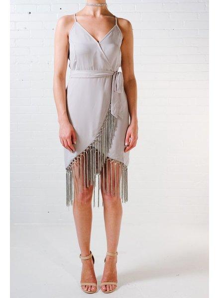 Mini Fringed wrap dress