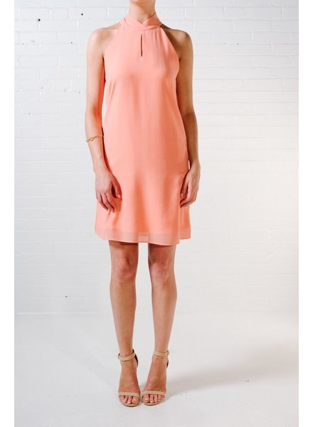 Mini Coral halter dress