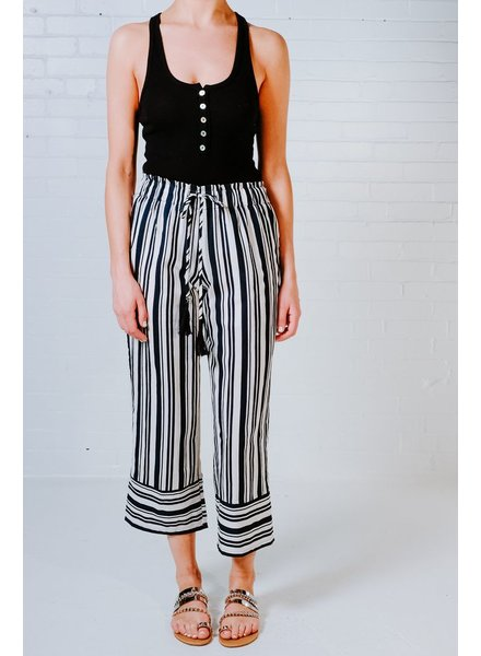 Pants Vertical stripe culotte pants