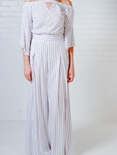 Pants Wide leg pinstripe pants