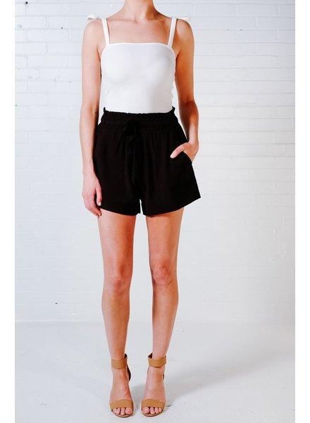 Shorts Black cinch waist shorts