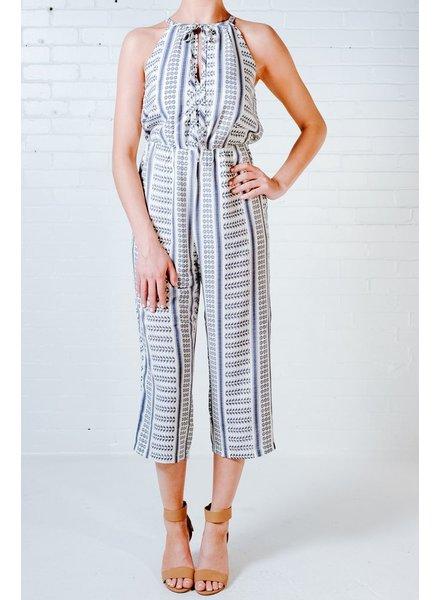 Casual Printed culotte jumpsuit