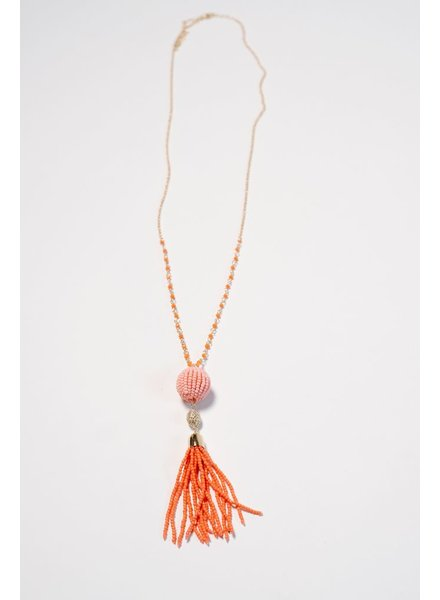 Trend Coral beaded trend necklace