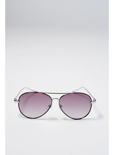Sunglasses Black flat lense aviators