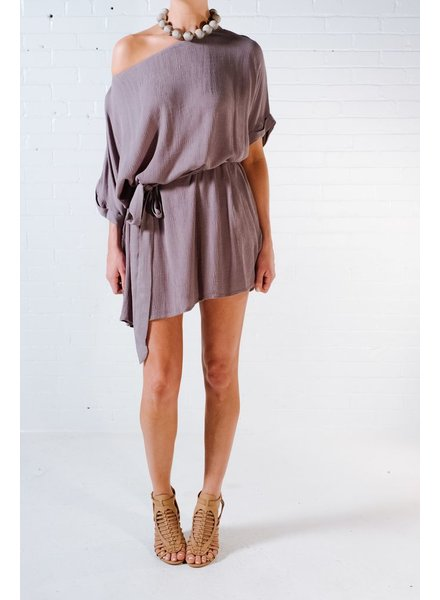 Casual Olive ots sash dress