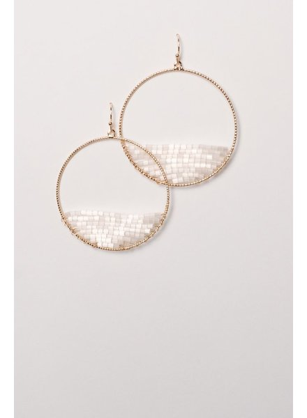 Trend Half white beaded hoop