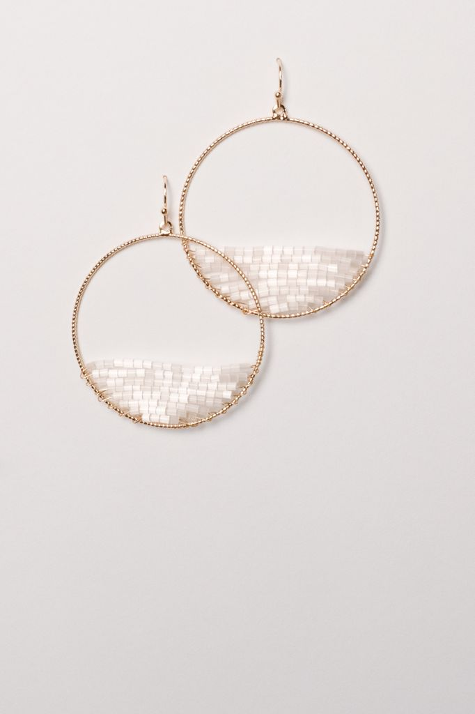 Trend Half white beaded hoop