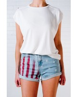 T-shirt White oversized muscle tee
