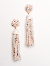 Trend Lilac tassel earrings