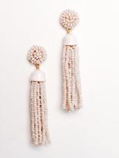 Trend Lilac tassel earrings