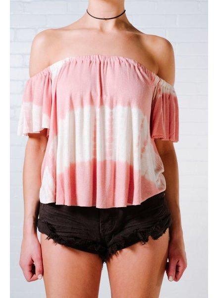 T-shirt Pink dyed ots t-shirt