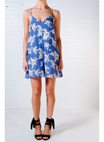 Casual Blue floral shift romper