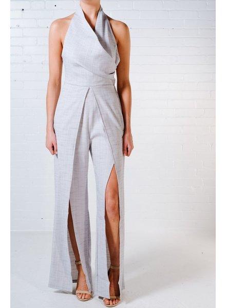 Dressy Grey halter neck jumpsuit