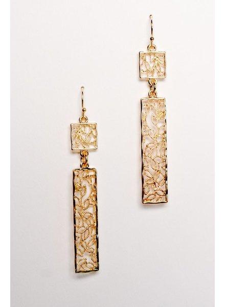 Silver Vine gold earrings