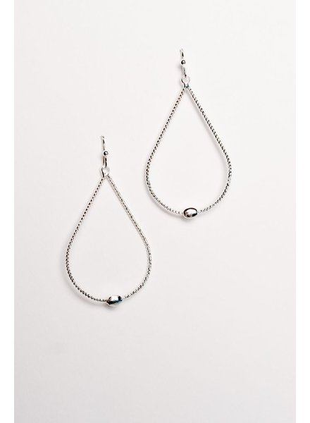 Casual Silver teardrop earrings