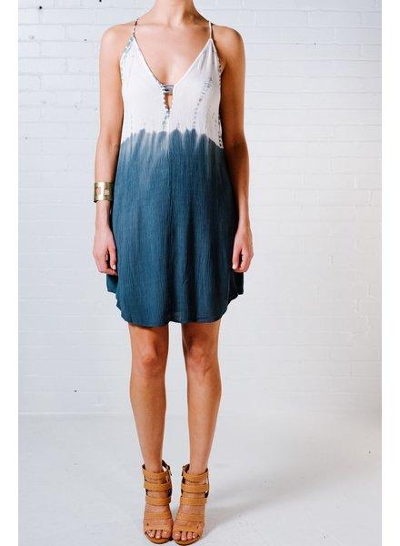 Casual Peep neck gauze cami dress