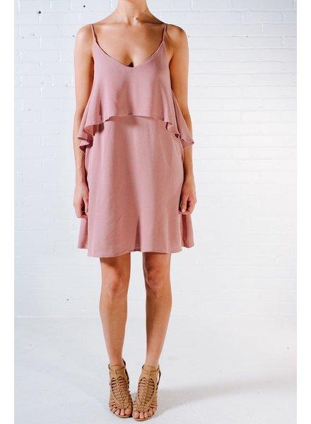 Mini Rose ruffled cami dress